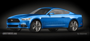 2015-Mustang-3D-Rendering-Based-on-CAD