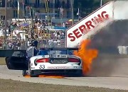 Viper Race Car On Fire