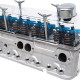 Classic Industries Clear Vue Valve Covers installed - front 3q view