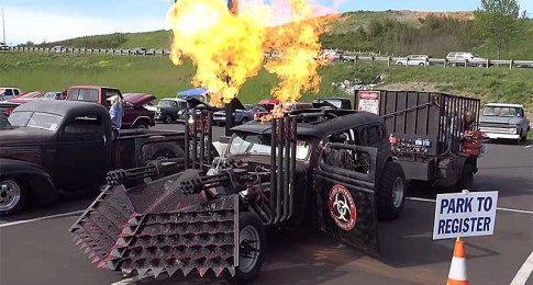 Zombie Hunter Themed Rat Rod Might be Taking Things a bit too Far