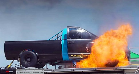 Diesel Race Truck Blows Up Big on the Chassis Dyno