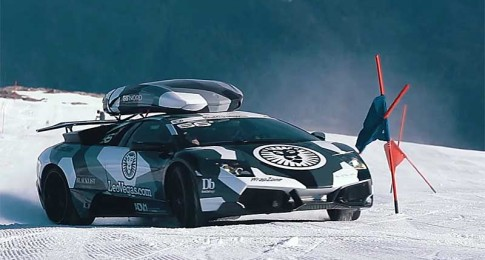 Lambo Goes Mountain Climbing in the Snow