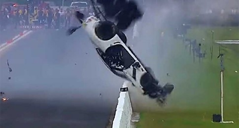 Pro Mod Driver Goes for a Tumble in Big Crash