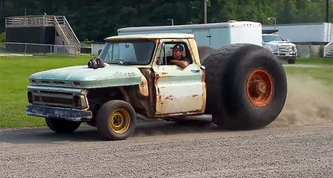 This is Adam Anderson's Steam Roller Chevy Pickup, and It's Real!